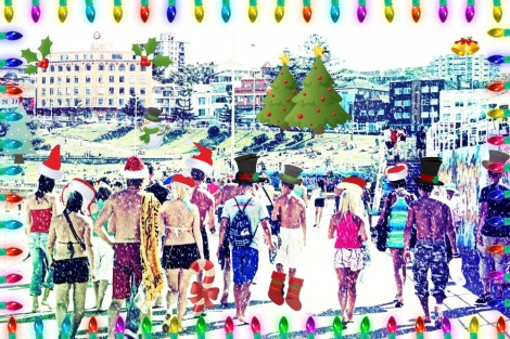 Christmas at Bondi Beach
