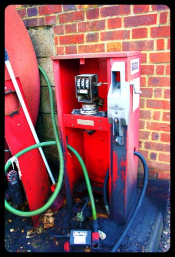 old petrol pump