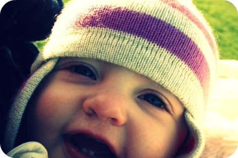 baby showing teeth