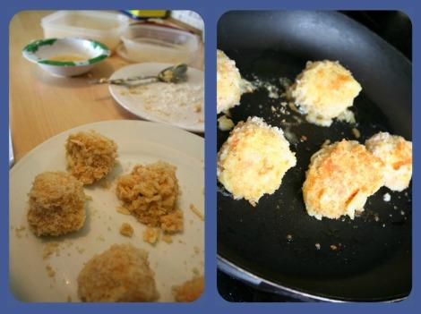 preparing arancini