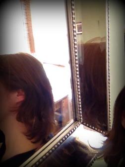 medium length hair in need of a cut