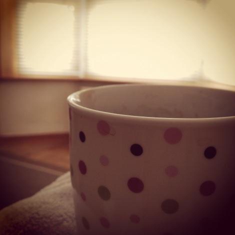 coffee in morning light