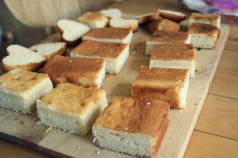 squares of sponge for lamingtons