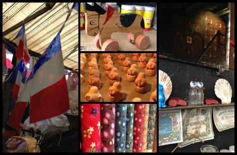 paris collage flea markets