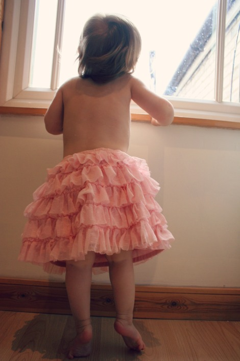 toddler in a tutu