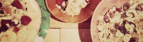 three breakfast bowls