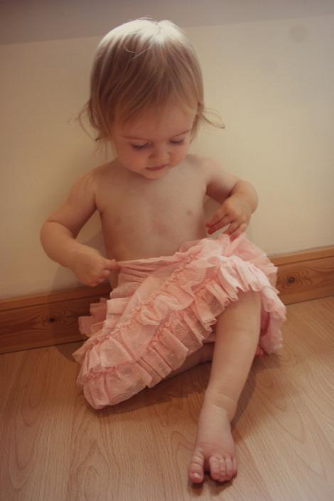 toddler in a tutu