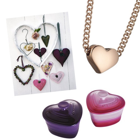 Heart canvas Le Creuset Sweet Heart Rose Gold Necklace Littlewoods