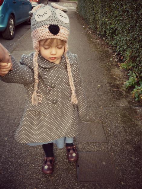 toddler walking on street