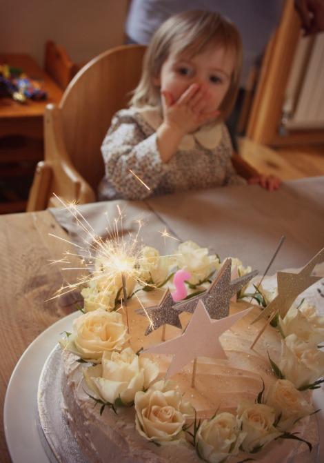 girl 2nd birthday cake