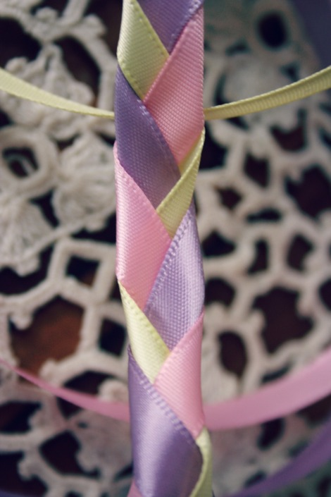 pastel ribbon plait and lace