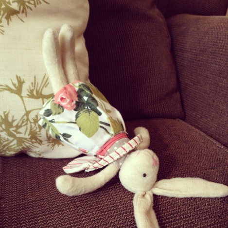 bunny doing yoga