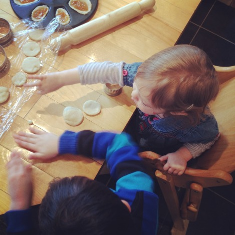 children making jam tarts