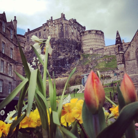 Edinburgh Castle in Spring