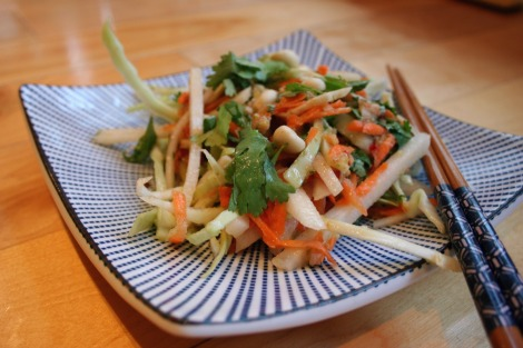 Asian Slaw with Kohlrabi | Bluebirdsunshine