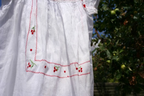girls vintage cherry dress