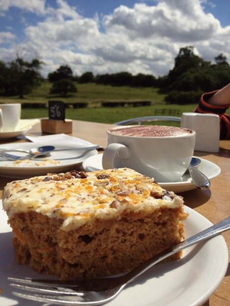 cake and coffee in the country
