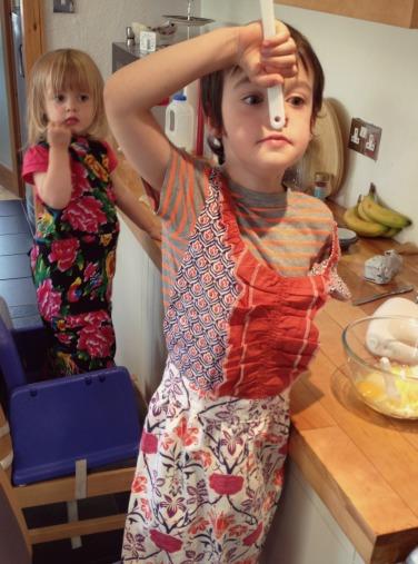 Kids Baking in bluebirdsunshine kitchen