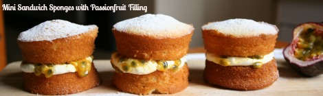Mini Sandwich Sponges with Passionfruit Filling | Bluebirdsunshine