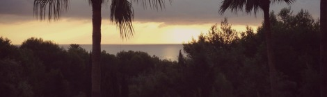 Dawn view from Bonaire Apartment | bluebirdsunshine