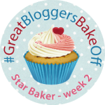 I'm Star Baker Week 2 in the Great Bloggers Bake Off!