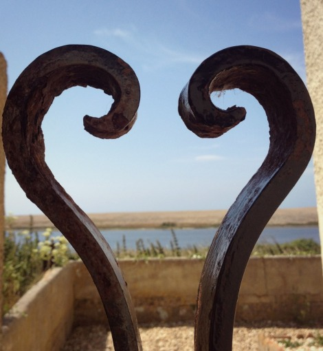 Ironwork at Moonfleet Manor Dorset