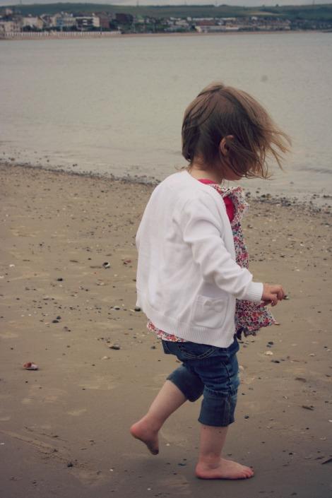 Girl on beach   bluebirdsunshine