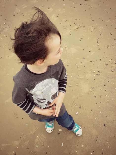 Boy on sand | bluebirdsunshine