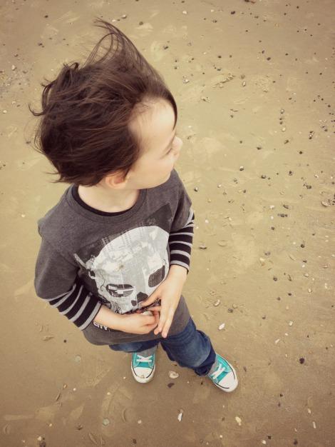 Boy on sand   bluebirdsunshine