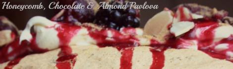 Honeycomb Choc Almond Pavlova | bluebirdsunshine