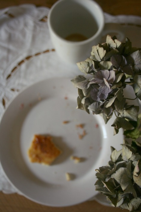 Breakfast and Hydrangeas | bluebirdsunshine