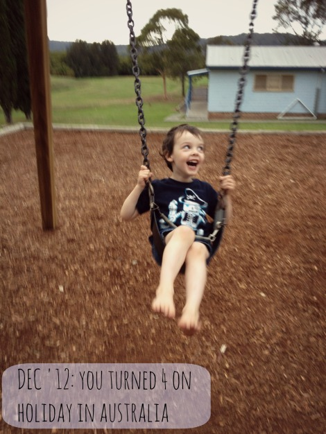 boy on swing in australia