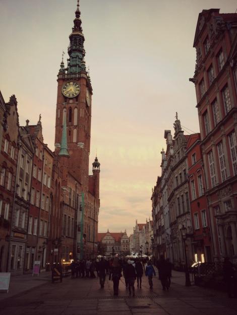 sunset in Gdansk Old Town | bluebirdsunshine