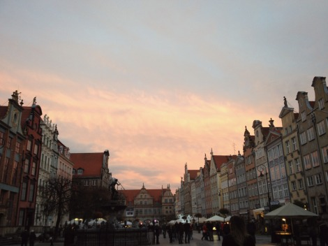 sunset in Gdansk Old Town | bluebirdsunshine