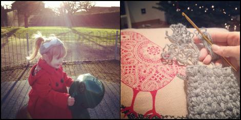 girl in park | frogging crochet