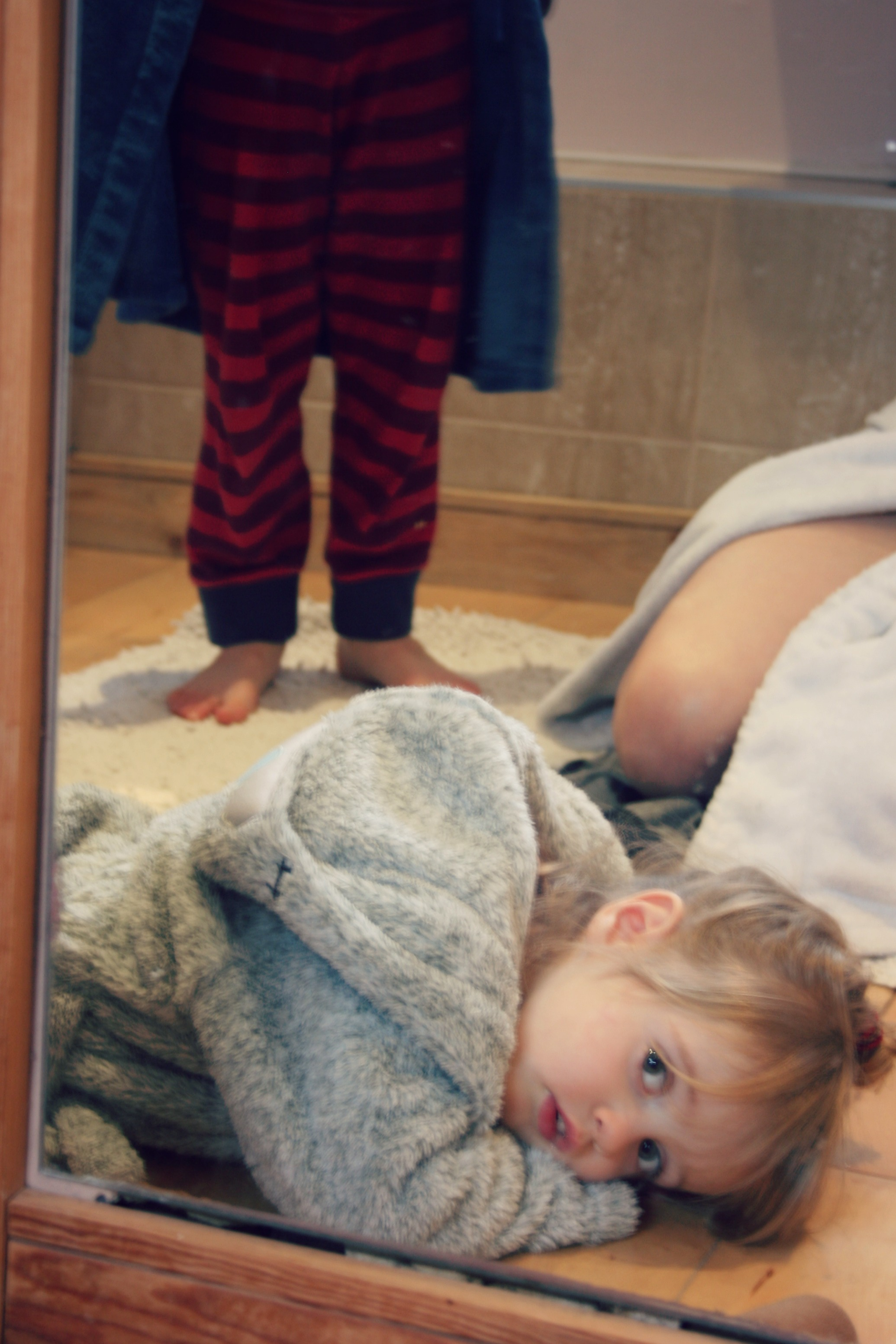 Children in shower mother and children in bathroom | bluebirdsunshine