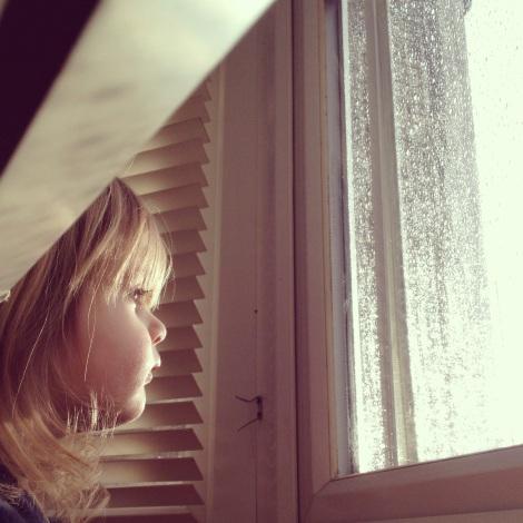 girl watching rain | bluebirdsunshine