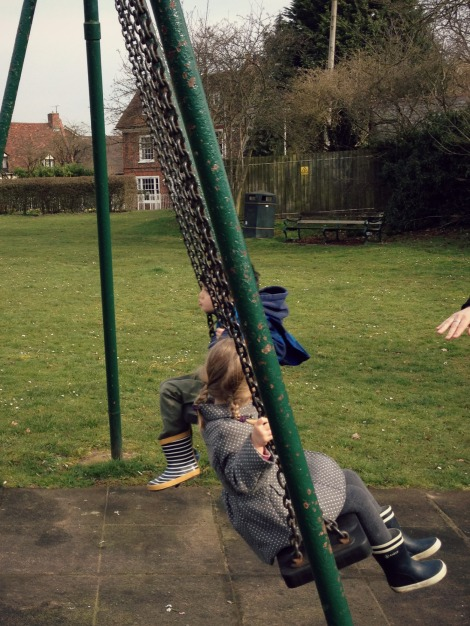 children on swings | bluebirdsunshine
