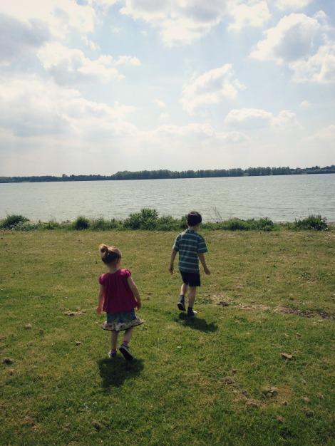 siblings walking | bluebirdsunshine