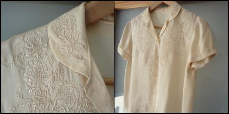 cream silk blouse | bluebirdsunshine