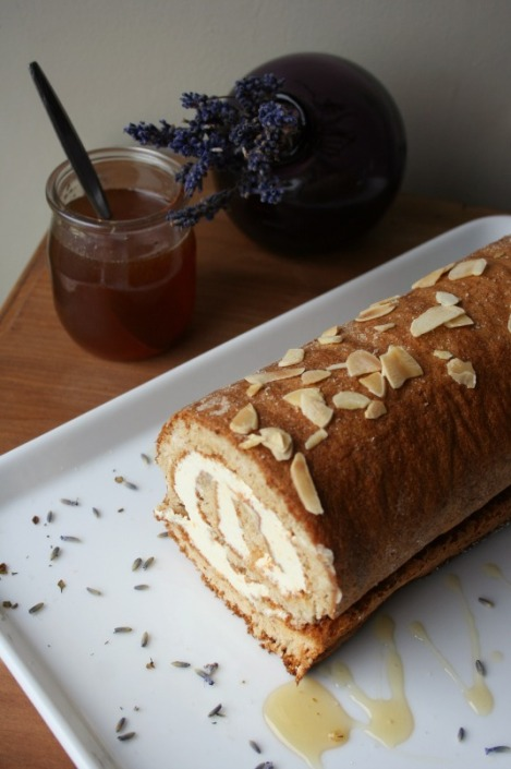 Lavender Honey Swiss Roll | Bluebirdsunshine