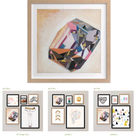 Minted ARt Walls | bluebirdsunshine