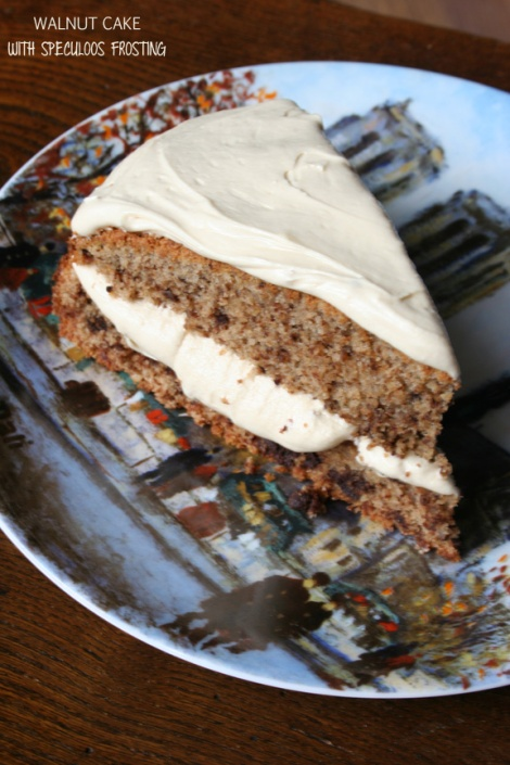 Walnut Cake with Speculoos Frosting | Bluebirdsunshine