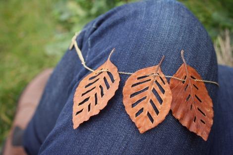 Autumn Leaf Necklace bluebirdsunshine