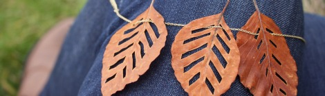 Autumn Leaf Necklace | bluebirdsunshine